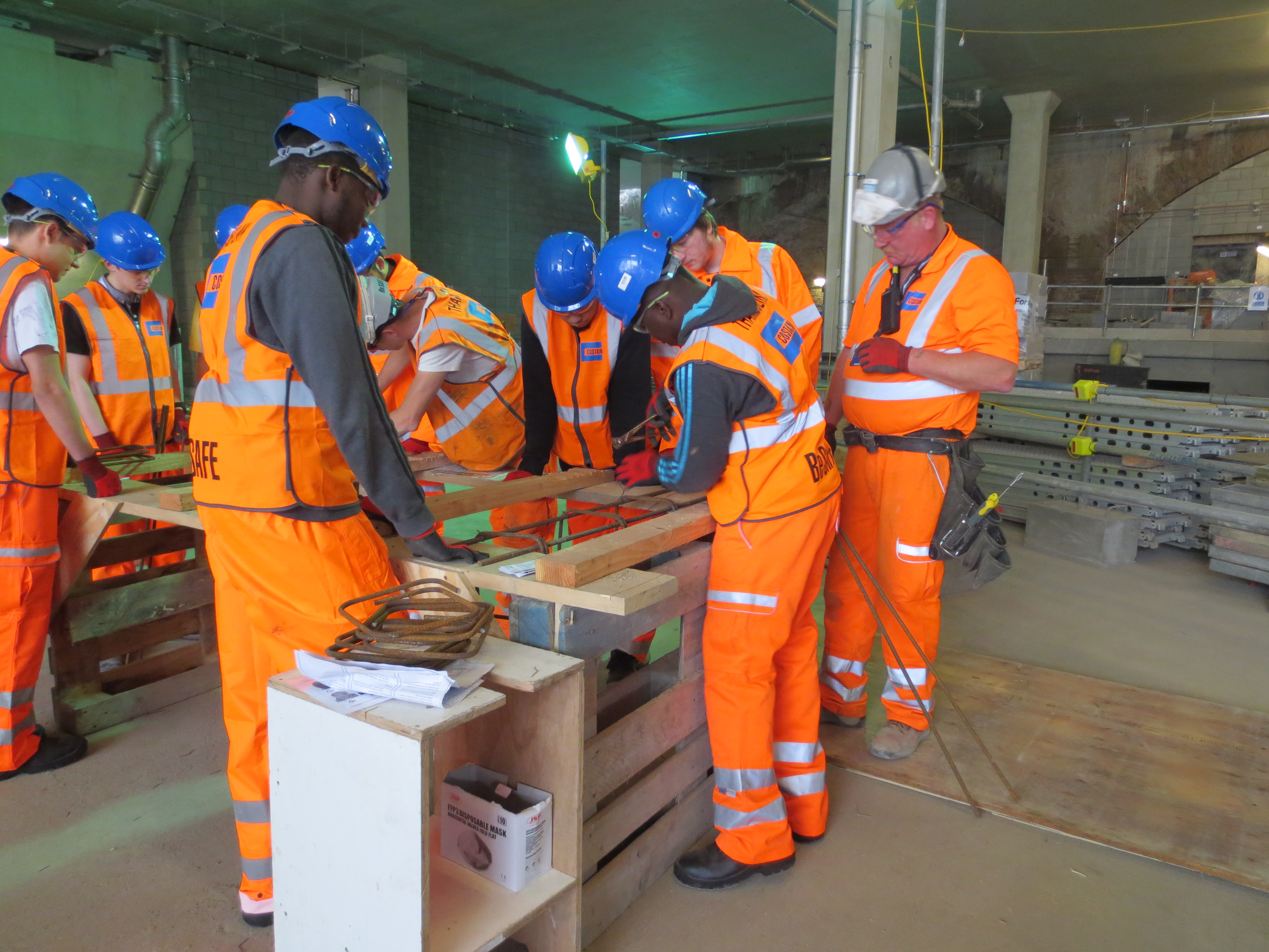 Apprentices at London Bridge Station