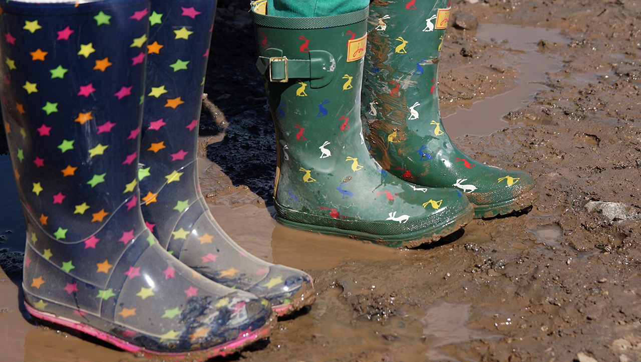 Children wearing wellies