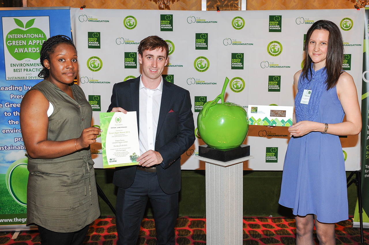 Bond St Upgrade Wins Environmental Award, green apple