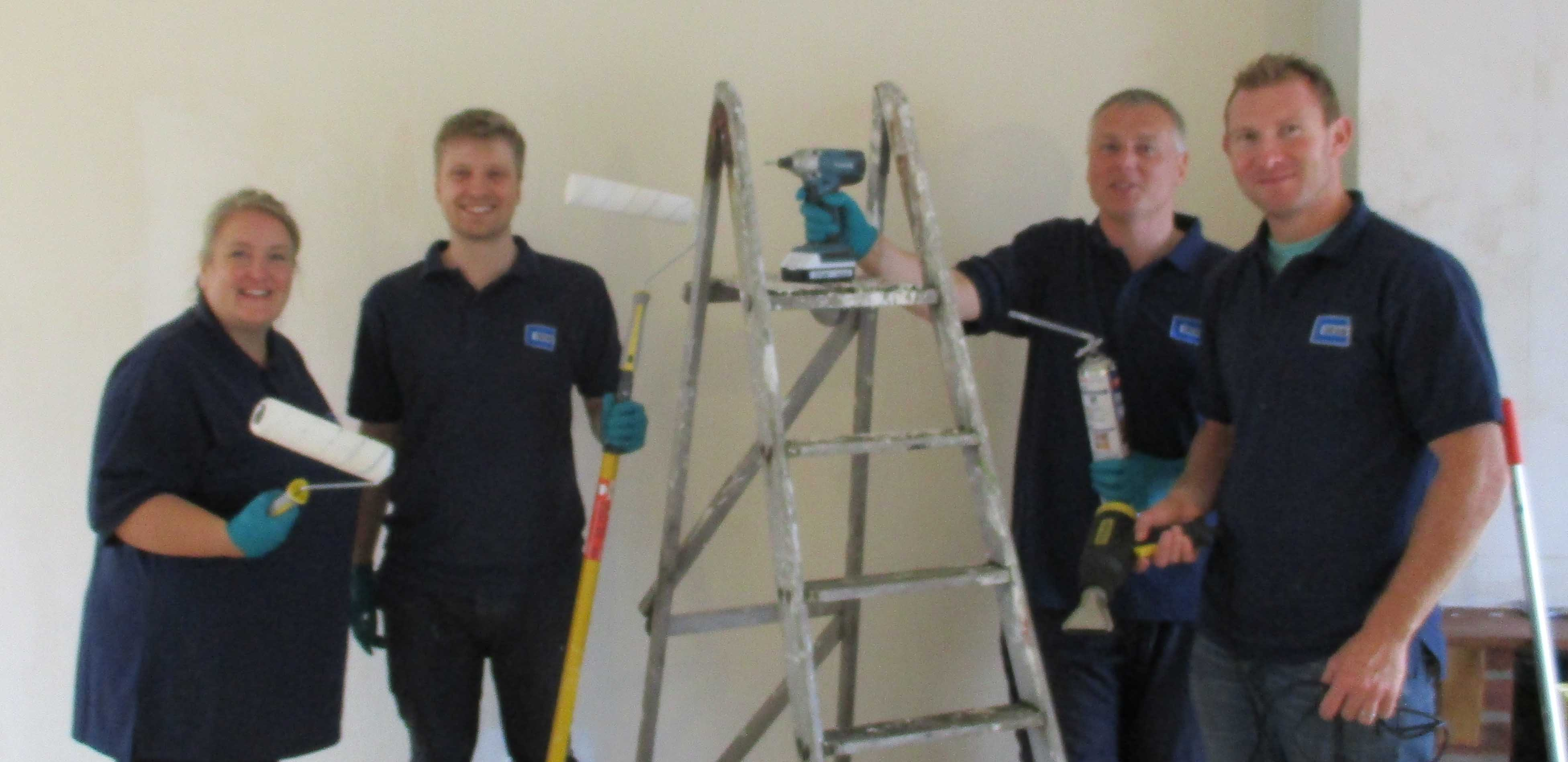 WYLFA Team Gets Decorating For Hour Pledge