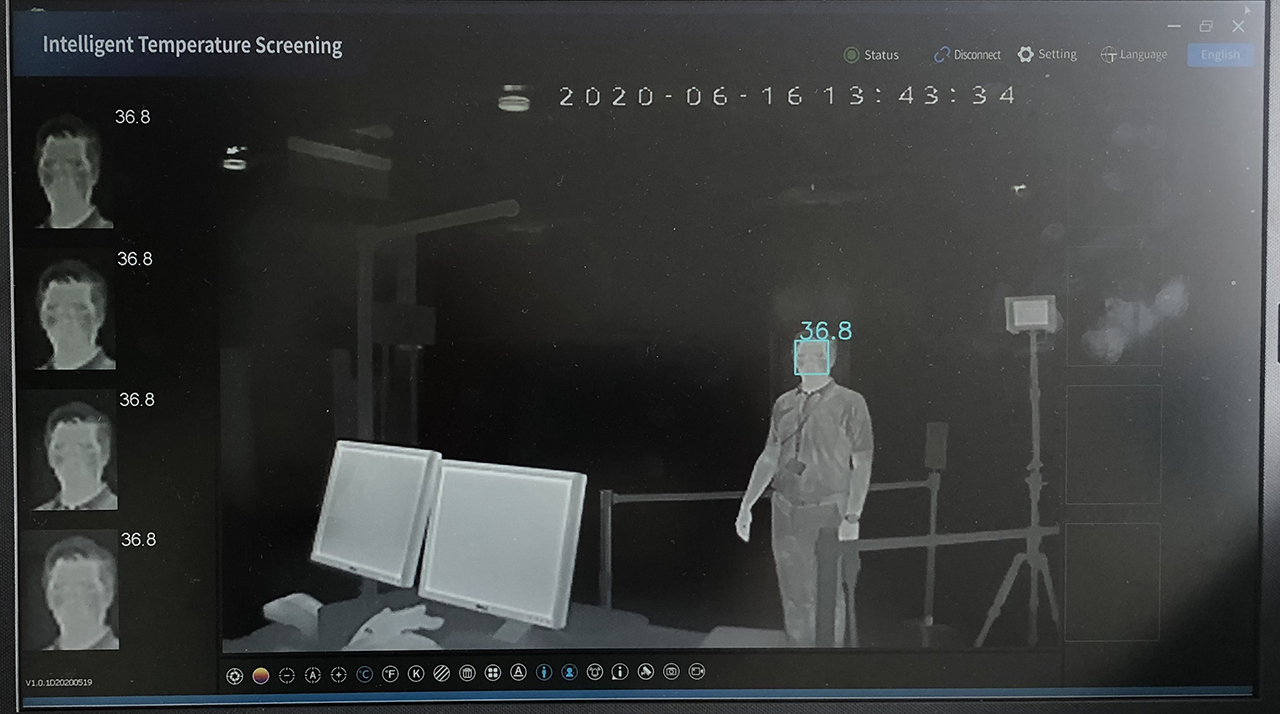 Thermal imaging technology at airports
